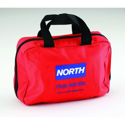 """North® By Honeywell Redi-Care™ 6"""" X 8 3/4"""" X 2 3/4"""" Red Nylon Portable Mount Medium 10 Person Responder First Aid Kit"""
