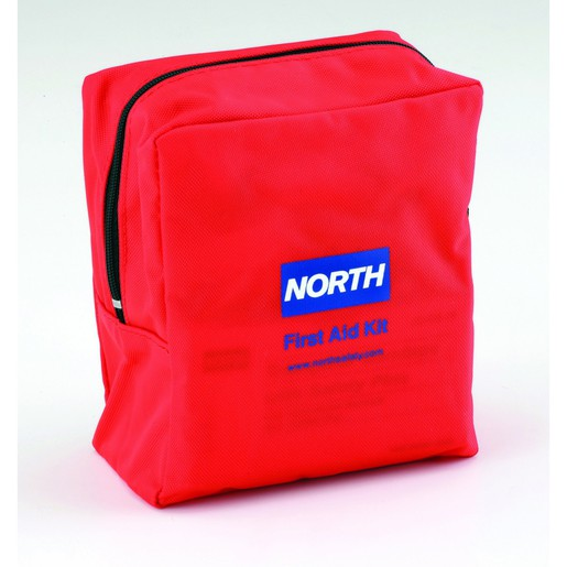 """North® By Honeywell Redi-Care™ 5"""" X 5 1/2"""" X 2 1/2"""" Red Nylon Portable Mount Small 5 Person Responder First Aid Kit"""