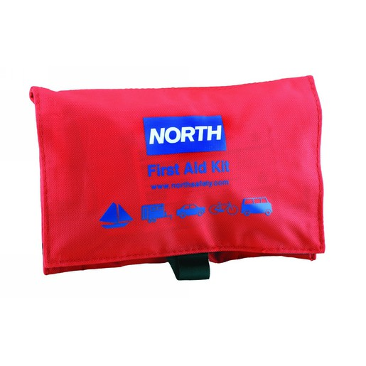"""North® By Honeywell Redi-Care™ 4 1/2"""" X 7"""" X 1 1/2"""" Red Nylon Portable Mount Small 1 Person Flat Trim Promotional First Aid Kit"""