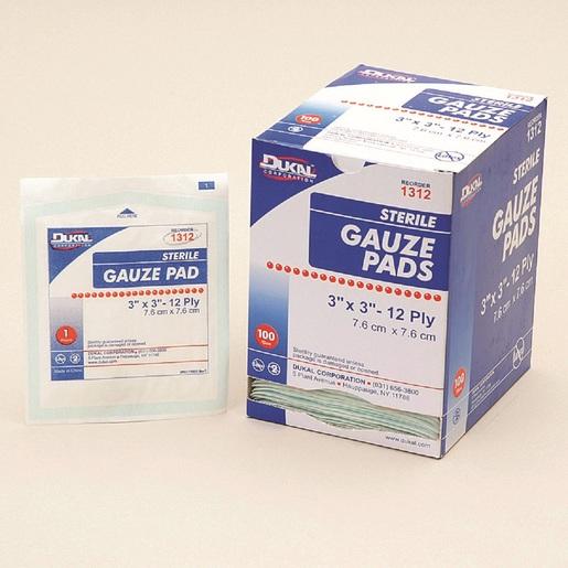 "Swift First Aid 3"" X 3"" Sterile Gauze Pad (100 Per Box)"