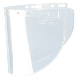 "Fibre-Metal® by Honeywell High Performance® Model 4178 8"" X 16 1/2"" X .06"" Clear Injection Molded Propionate Wide View Faceshield For Use With Models F400 And F500 Mounting Crown"