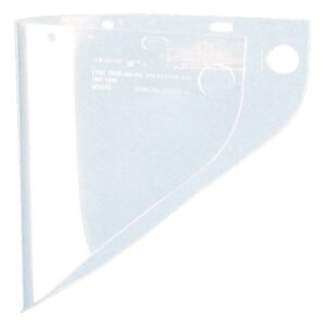 "Fibre-Metal® by Honeywell High Performance® Model 4199 9 3/4"" X 19"" X .06"" Clear Injection Molded Propionate Extended View Faceshield For Use With Models F400 And F500 Mounting Crown"