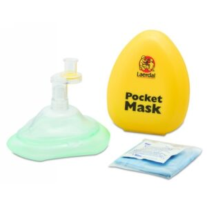 North® by Honeywell Laerdal® Pocket Mask™ Universal CPR Pocket Mask (Includes Gloves, Wipe And Yellow Hard Case)