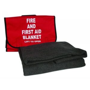 """North® by Honeywell 62"""" X 80"""" Gray 90% Wool Lightweight Fire And First Aid Blanket"""