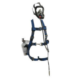 Honeywell Small/Medium Aluminum Hip-Pac Style Pressure Demand Supplied Air System With Escape Cylinder And Class 3 Miller Fall Protection Harness (Without Second Stage Quick Disconnect And Coupling)