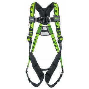 Miller® by Honeywell Large/X-Large DuraFlex® AirCore™ Green Harness With Front And Back D-Rings, Quick-Connect Chest Strap Buckle And Leg Strap Buckle And Aluminum Hardware