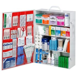 FIRST AID KIT 4 SHELF INDUSTRIAL WITH LINER