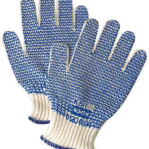 North® by Honeywell Large Grip N® Abrasion Resistant Blue PVC Coated Work Gloves With Seamless Liner And Continuous Knit Cuff