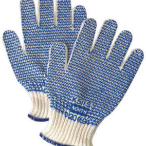 North® by Honeywell Ladies Grip N® Abrasion Resistant Blue PVC Coated Work Gloves With Seamless Liner And Continuous Knit Cuff