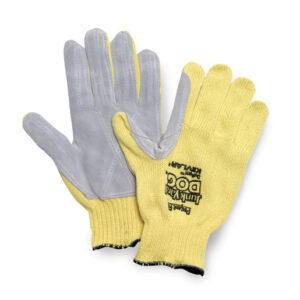 Honeywell One Size Fits Most Yellow And Gray Junk Yard Dog 7 gauge Standard Weight Cut Resistant Gloves With Seamless Knit Wrist And Kevlar® Seamless Knit Blend