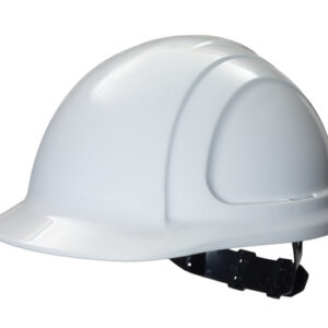 North® By Honeywell White North Zone™ HDPE Cap Style Hard Hat With Quick-Fit 4 Point Pinlock Suspension, Accessory Slots And Removable Brow Pad