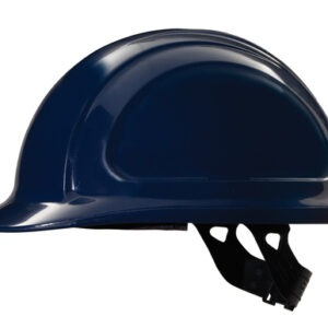 North® By Honeywell Navy Blue North Zone™ HDPE Cap Style Hard Hat With Quick-Fit 4 Point Pinlock Suspension, Accessory Slots And Removable Brow Pad