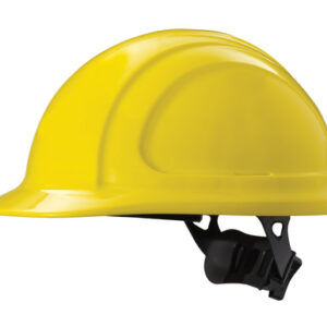 North® By Honeywell Yellow North Zone™ HDPE Cap Style Hard Hat With 4 Point Ratchet Suspension, Accessory Slots And Removable Brow Pad