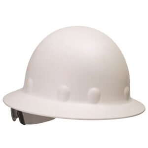 Fibre-Metal® by Honeywell White Roughneck® P1 Fiberglass High Heat Full Brim Hard Hat With SuperEight® Ratchet Suspension