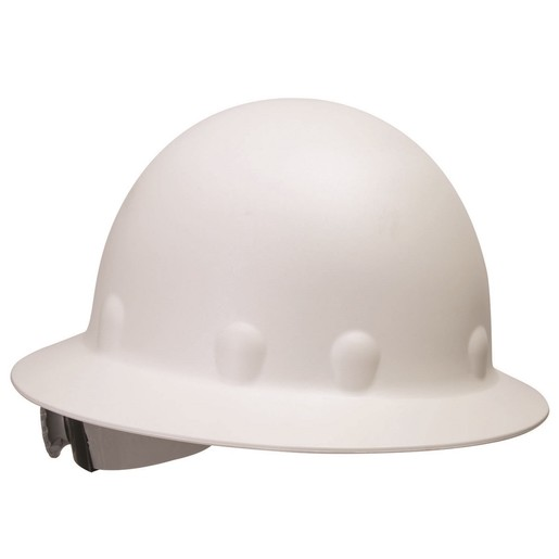 Fibre-Metal® by Honeywell White Roughneck® P1 Fiberglass High Heat Full Brim Hard Hat With SuperEight® Ratchet Suspension