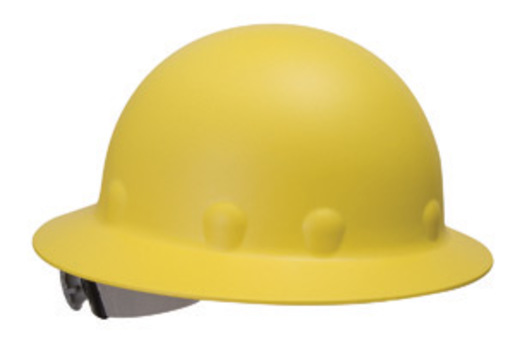 Fibre-Metal® by Honeywell Yellow Roughneck® P1 Fiberglass High Heat Full Brim Hard Hat With SuperEight® Ratchet Suspension