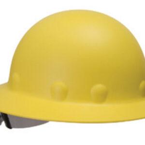 Fibre-Metal® by Honeywell Yellow Roughneck® P1 Fiberglass High Heat Full Brim Hard Hat With SwingStrap™ SuperEight® Ratchet Suspension