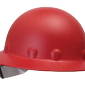 Fibre-Metal® by Honeywell Red Roughneck® P1 Fiberglass High Heat Full Brim Hard Hat With SwingStrap™ SuperEight® Ratchet Suspension