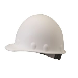 Fibre-Metal® by Honeywell White Roughneck® Fiberglass Cap Style Hard Hat With SuperEight® 8 Point Ratchet Suspension