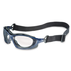 Uvex™ By Honeywell Seismic® Sealed Safety Glasses With Blue Thermoplastic Polyester Elastomer Frame And Clear Polycarbonate Uvextreme® Anti-Fog Lens