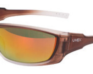 Uvex® by Honeywell A1500 Safety Glasses With Matte Brown Frame And Red Mirror Hard Coat Lens