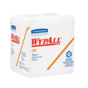 """Kimberly-Clark Professional* WYPALL* L30 12 1/2"""" X 12"""" White Double Reinforced Crepe Quarter Fold Wiper (90 Per Pack, 12 Pack Per Case)"""