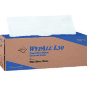 """Kimberly-Clark Professional* WYPALL* L30 16.400"""" X 9.800"""" White Double Reinforced Crepe General Purpose Wiper (120 Per Pop-Up® Box, 6 Box Per Case)"""