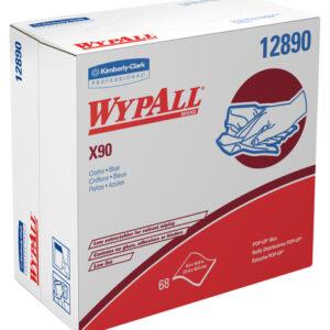 "Kimberly-Clark Professional* WYPALL* X90 8.3"" X 16.8"" Blue Heavy Duty Cloth Wiper (68 Per Box)"