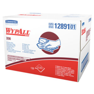 "Kimberly-Clark Professional* WYPALL* X90 11.1"" X 16.8"" White Heavy Duty Cloth (136 Sheets Per BRAG* Box, 1 Box Per Case)"