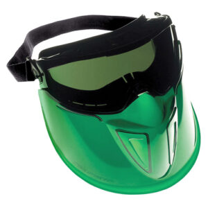 Kimberly-Clark Professional* Jackson Safety* V90 Shield Monogoggle* XTR Indirect Vent Goggles With Black Frame, IRUV Shade 5.0 Anti-Fog Lens And Polycarbonate Face Shield