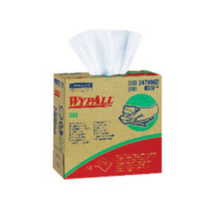 "Kimberly-Clark Professional* WYPALL* X60 TERI® 9.100"" X 16.800"" White HYDROKNIT* Reinforced Wiper (Pop-Up® Box)"