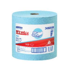 """Kimberly-Clark Professional* WYPALL* X60 TERI® 12.500"""" X 13.400"""" Blue HYDROKNIT* Reinforced Disposable Wiper (1100 Per Jumbo Roll)"""