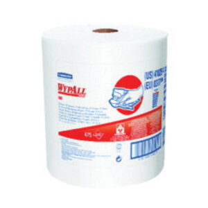 "Kimberly-Clark Professional* WYPALL* X80 SHOPPRO® 12.500"" X 13.400"" White HYDROKNIT* Wiper (Jumbo Roll)"
