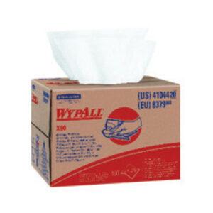 "Kimberly-Clark Professional* WYPALL* X80 SHOPPRO® 12 1/2"" X 16 4/5"" White HYDROKNIT* Quarter Fold Wiper (160 Per Brag® Box)"