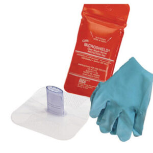 MDI® Microshield® Water Proof Disposable CPR Rescue Breather (Includes (1) Pair Nitrile Gloves And Tamper Evident Pouch)