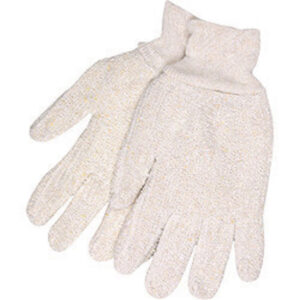 "Memphis Glove Large 6 1/2"" Natural 18 Ounce Regular Weight Cotton Polyester Blend Terry Cloth Heat Resistant Gloves With Straight Thumb And  2 1/2"" Knit Wrist"