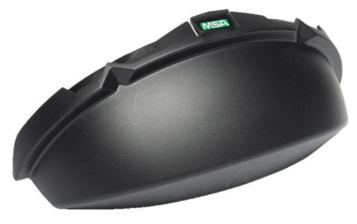 MSA Black Opaque V-Gard® Standard Tinted Chin Protector For Use With Slotted Caps