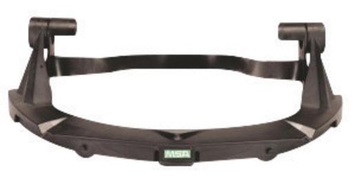 MSA Black Plastic V-Gard® Standard Visor Frame With 3 Point Suspension For Use With Standard Series Hard Hats
