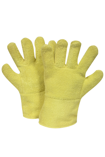 "National Safety Apparel Large 12"" Yellow 20 Ounce DuPont™ Kevlar® Heat Resistant Gloves With Gauntlet Cuff, Wool And Cotton Lining And Wing Thumb"