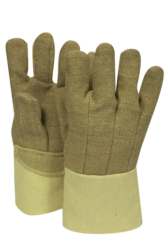 "National Safety Apparel Large 14"" Brown 22 Ounce PBI And DuPont™ Kevlar® Heat Resistant Gloves With Thermobest™ Cuff, Wool And Cotton Lining And Straight Thumb"