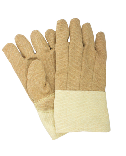 "National Safety Apparel Large 14"" Brown 45 Ounce PBI And DuPont™ Kevlar® Heat Resistant Gloves With Thermobest™ Cuff, Wool And Cotton Lining And Straight Thumb"