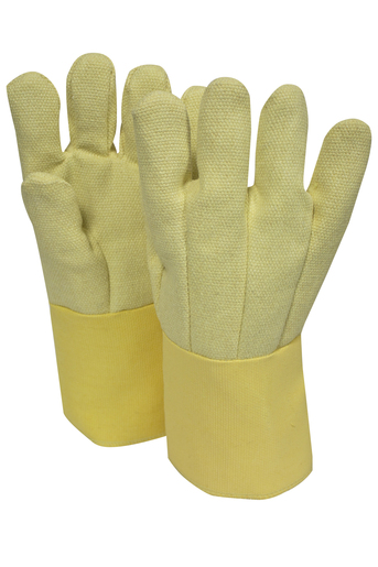 "National Safety Apparel Large 14"" Yellow 22 Ounce Thermobest™ Heat Resistant Gloves With Goldenbest™ Cuf, Wool Lining And Straight Thumb"
