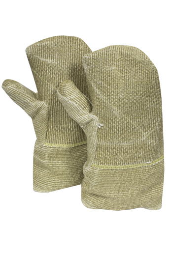 "National Safety Apparel Jumbo 14"" Brown 40 Ounce Zetex Plus® Heat Resistant Mittens With Zetex Plus® Cuff, Wool Lining, Straight Thumb And DuPont™ Kevlar® Palm Patch"