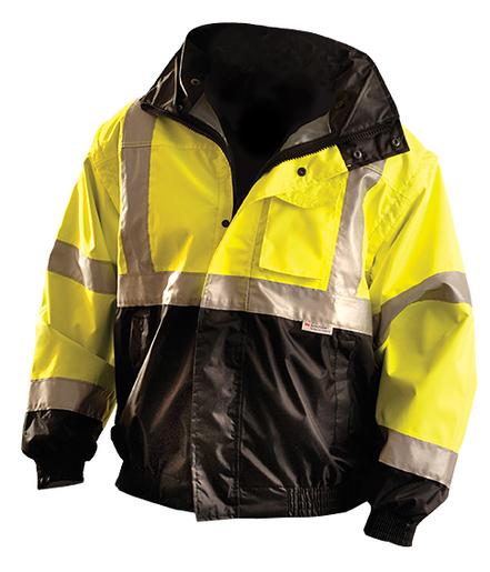 OccuNomix 2X Black And Yellow Polyester/Fleece/PU Coating Bomer Jacket