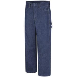"Bulwark® 30"" X 30"" Blue Denim Cotton Flame Resistant Dungarees With Button Closure"