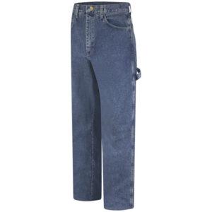 "Bulwark® 30"" X 32"" Stone Wash Cotton Denim Excel FR® Flame Resistant Jeans With Button Closure"