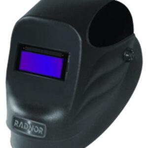 "Radnor® 24S-Black Welding Helmet With 2"" X 4 1/4"" Fixed Shade 10 Auto Darkening Lens"