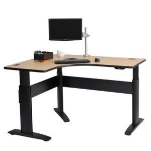 stratis l-shaped height adjustable sit stand desk